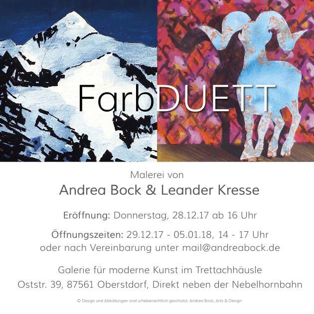 Andrea Bock und Leander Kresse stellen aus